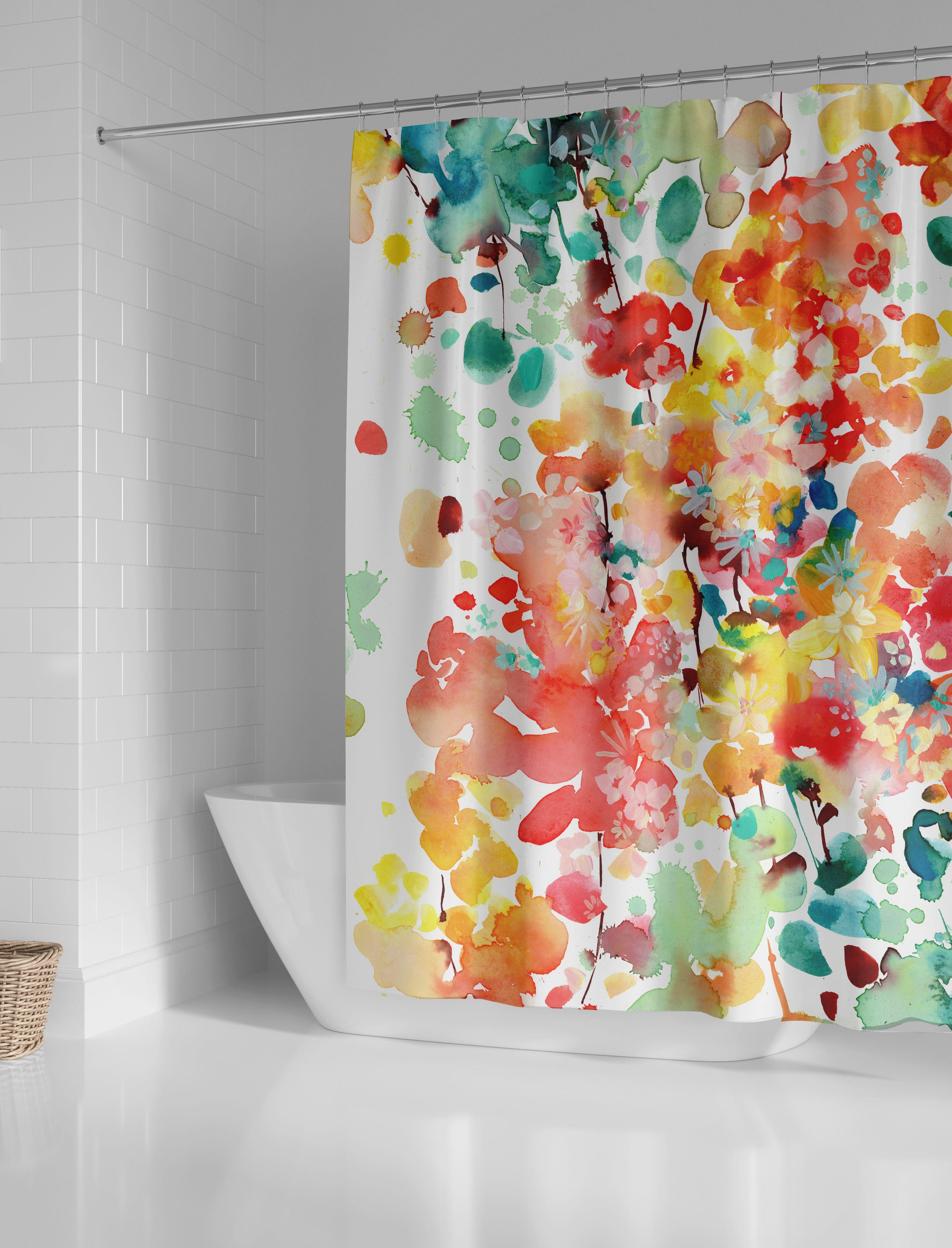 Thrive Shower Curtain Curtains Boho Bathroom Shower Curtain