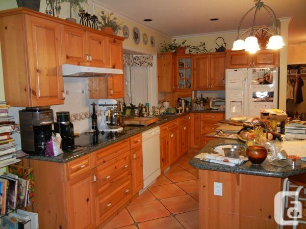 pine kitchen cabinets counters and appliances plete from Kitchen ...