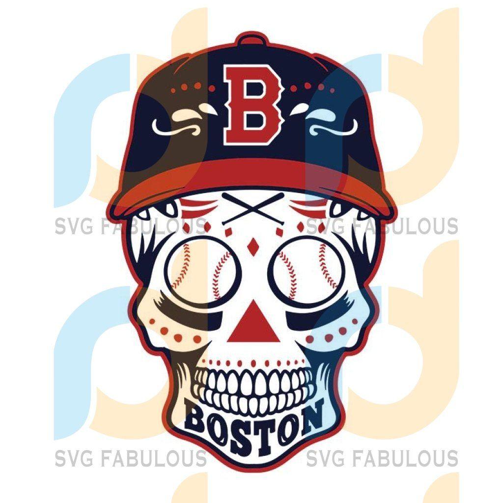 Boston Red Sox Skull Boston Red Sox Svg Boston Red Sox Png Digital Download Red Sox Boston Red Sox Svg