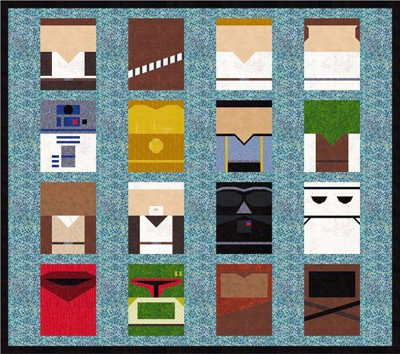 Star Wars 16 Quilt Block Patterns Foundation Paper Piece Etsy Foundation Paper Piecing Star Wars Quilt Quilt Block Patterns