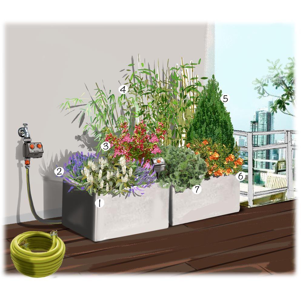 Balcon Bien Arrose Terrasse Balcon Et Compagnie Jardineries Truffaut Projet D Amenagement De Jardin Amenagement Jardin Idee Amenagement Jardin Jardins