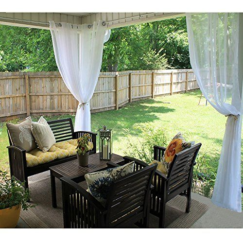 Outdoor Curtains Outdoor Indoor Voile Drape Panels Ryb Home
