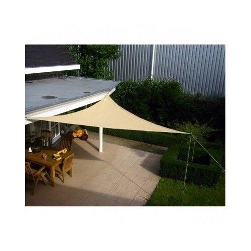 Patio Shade Sail Net Sun Canopy 5m Triangle Garden Sun Protection Outdoor UV  sc 1 st  Pinterest & Patio Shade Sail Net Sun Canopy 5m Triangle Garden Sun Protection ...
