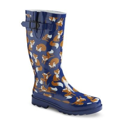 Women's Rain Boots - Navy Foxes | I'm a FOX | Pinterest | Rain ...