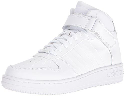 adidas NEO Men's Team Court Mid Basketball Shoe, White/White/White, M US: A  court-inspired look lives on. These mid-cut shoes feature a classic leather  ...