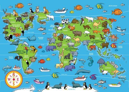 Ravensburger puzzle animals of the world giant floor puzzle 60 ravensburger animals of the world 60pc giant floor jigsaw puzzle amazon toys games gumiabroncs Image collections