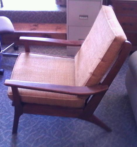 Vtg BENCHMARK Mid Century Danish Modern Lounge Chair Original ...