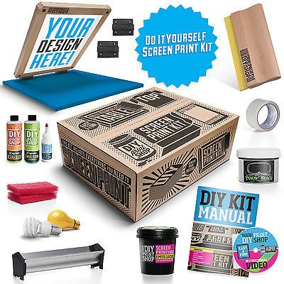 Diy screen printing starter kit table top do it yourself screen diy screen printing starter kit table top do it yourself screen printing solutioingenieria Image collections