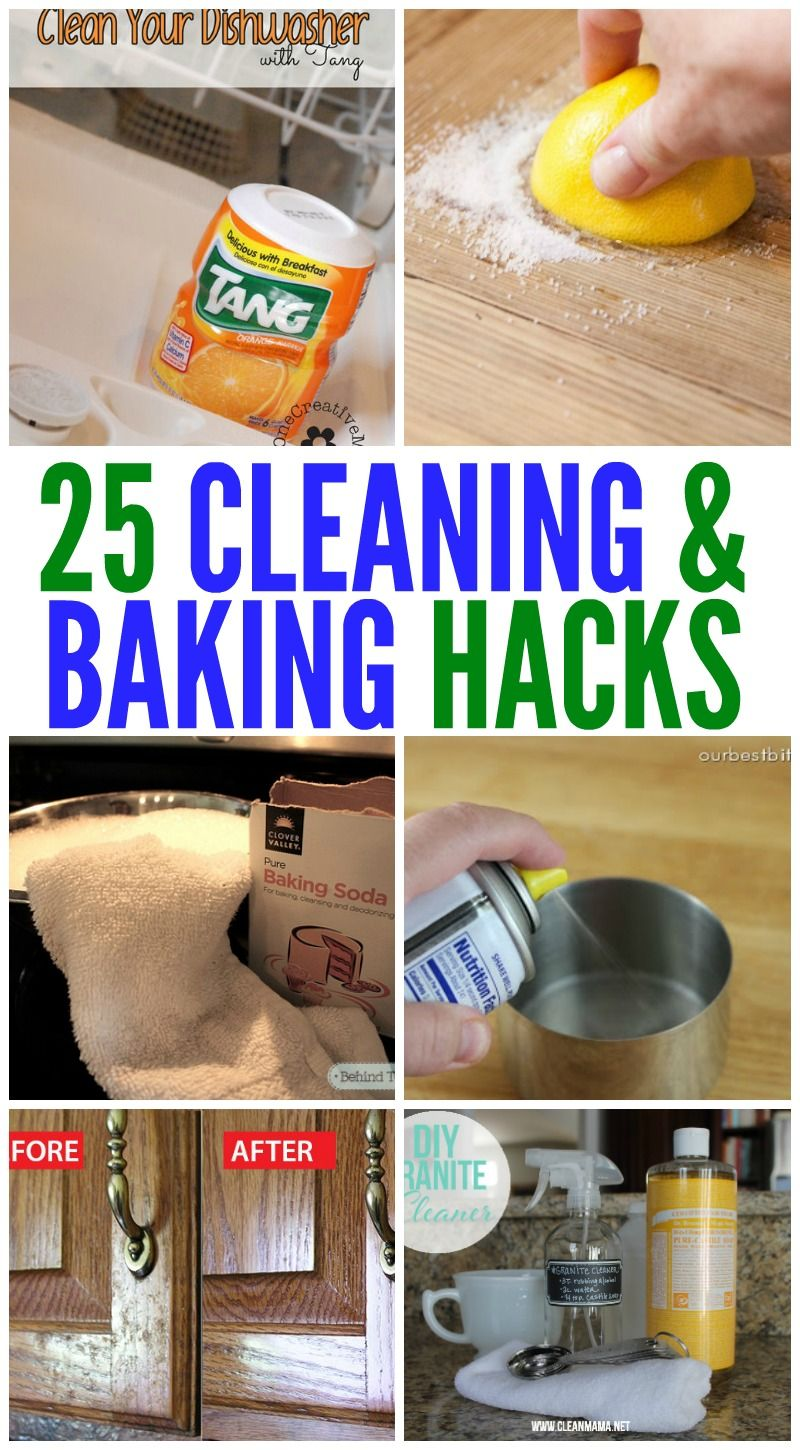 25 Incredible Cleaning And Baking Hacks!