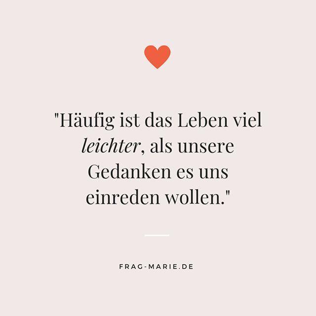 """Frag-Marie.de on Instagram: """"Wir und unsere Gedanken...  Wir und unsere Gedanken..."""