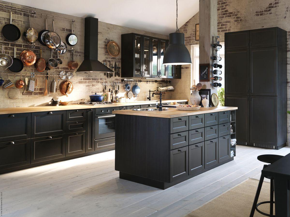 METOD kök med LAXARBY luckor och lådfronter. | kitchen | Pinterest ...