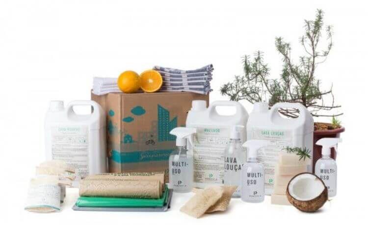 Ecobox da Positiv.A: caixa com produtos de limpeza eficientes para sua casa e com impacto ambiental reduzido