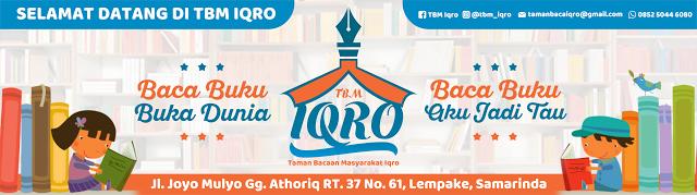 Tbm Iqro Banner Tbm Iqro Membaca Buku Buku Perpustakaan
