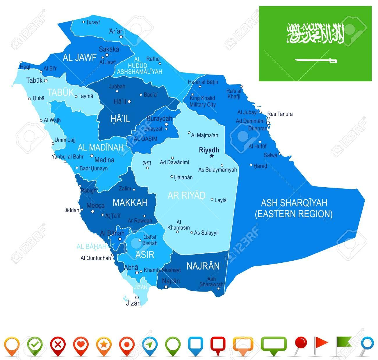 Saudi Arabia Map And Flag Vector Illustration Illustration Affiliate Map Arabia Saudi Flag Il Map Design Flag Vector Business Advertising Design
