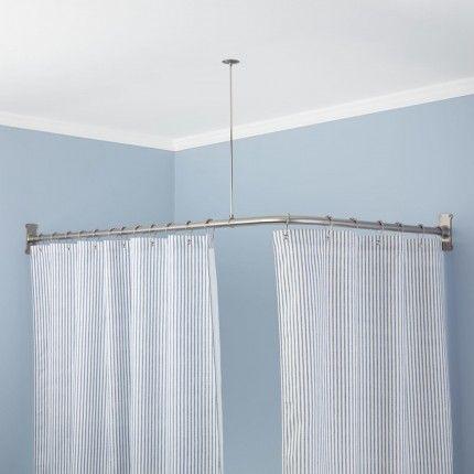 Extra Heavy Corner Shower Curtain Rod Corner Shower Curtain Rod