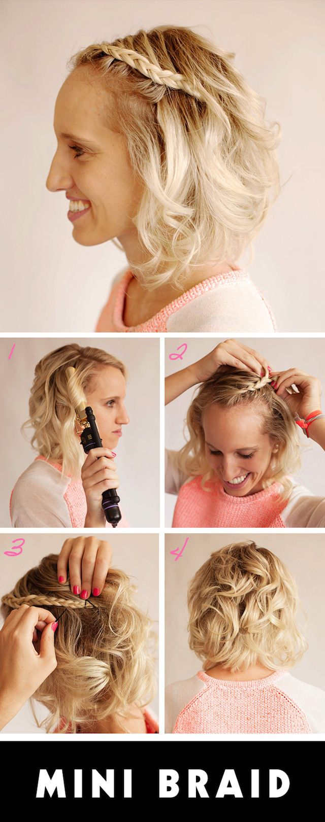 short prom hairstyles: try out this cute braid style   short