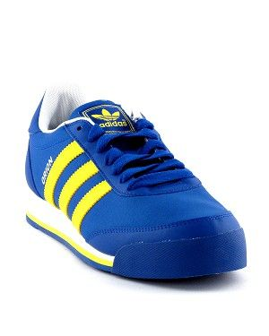 huge selection of 1288b 36799 Adidas Orion.Classic Adidas 3 Stripe Design.Blue with white bright Yellow  Trim