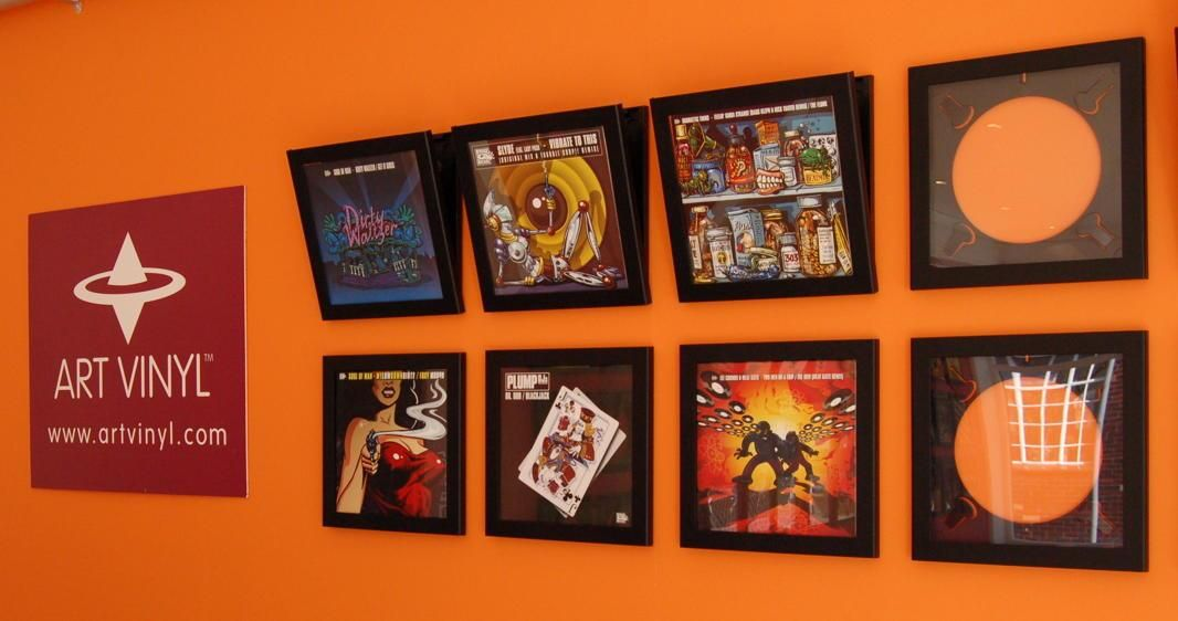 Finger Lickin\' records on display in Art Vinyl\'s Play & Display Flip ...