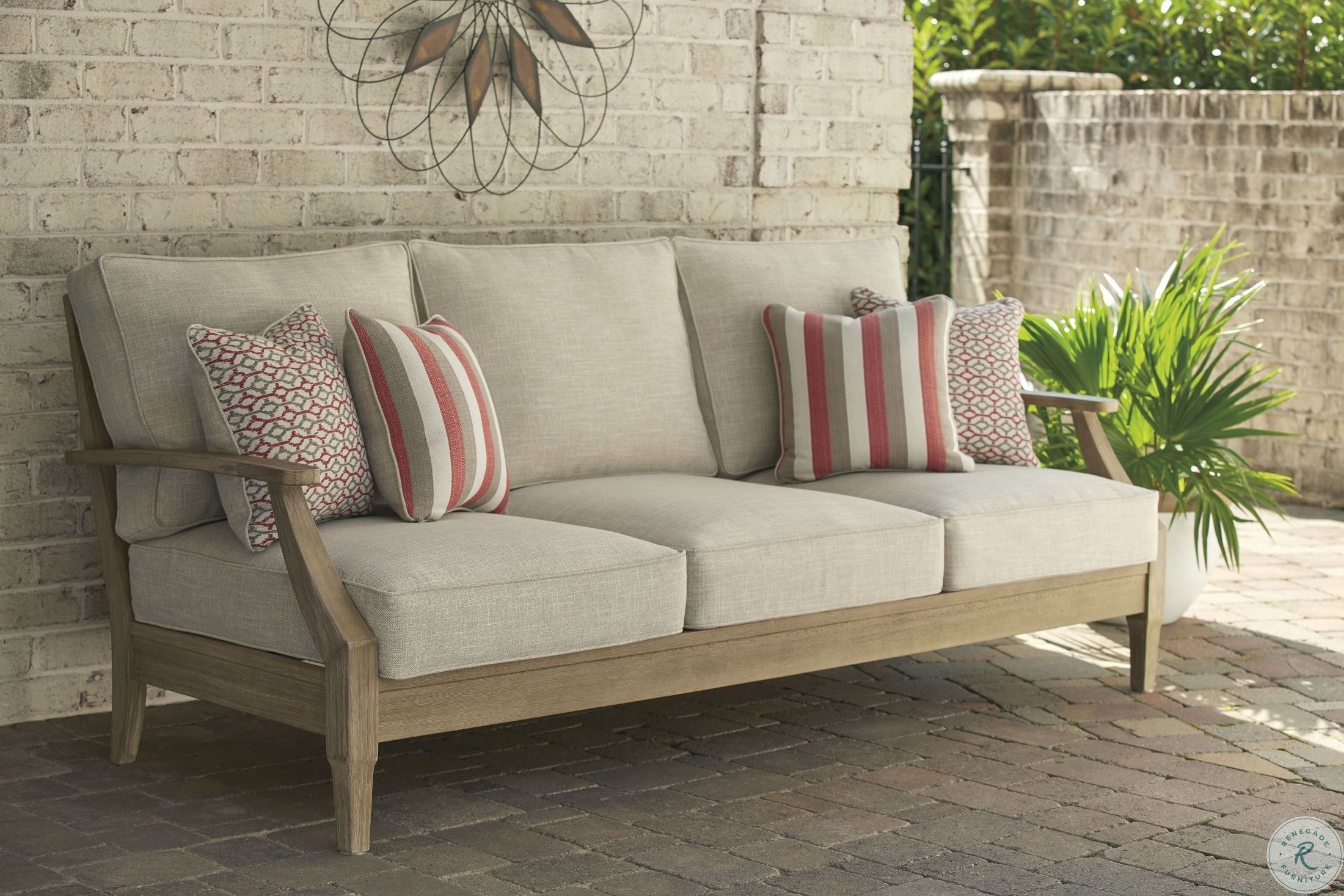 Clare View Beige Outdoor Living Room Set with Cushion in ... on Clare View Beige Outdoor Living Room id=96103