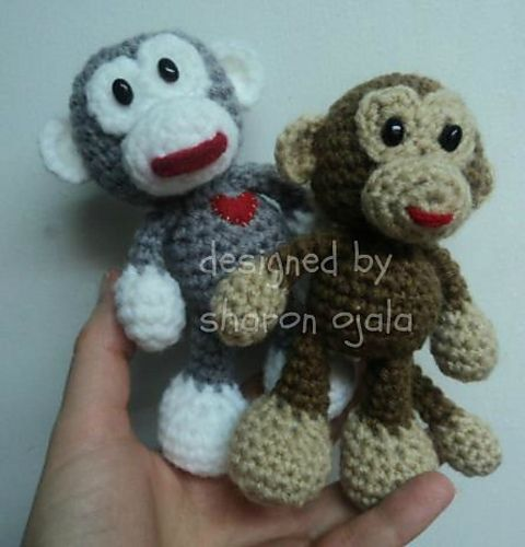 Ravelry: Little Bigfoot Monkey Crochet Pattern (easy amigurumi) free ...