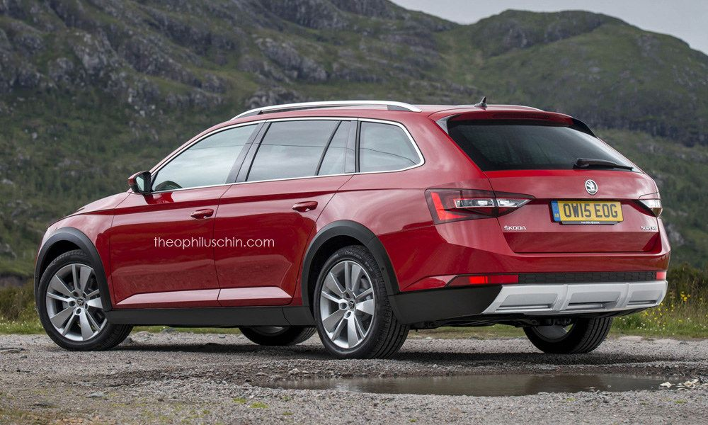 All New Skoda Superb Gets Rendered As Rugged Scout Version