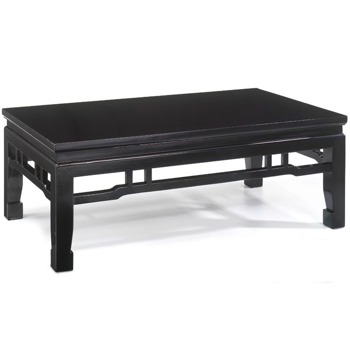 kang style coffee table, black lacquer | coffee table/cj/茶几