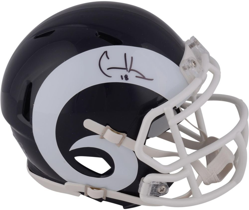 Cooper kupp los angeles rams autographed riddell speed