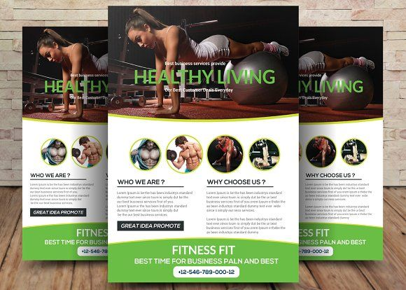 Fitness Flyer by sanaimran on @creativemarket Awesome Flyer