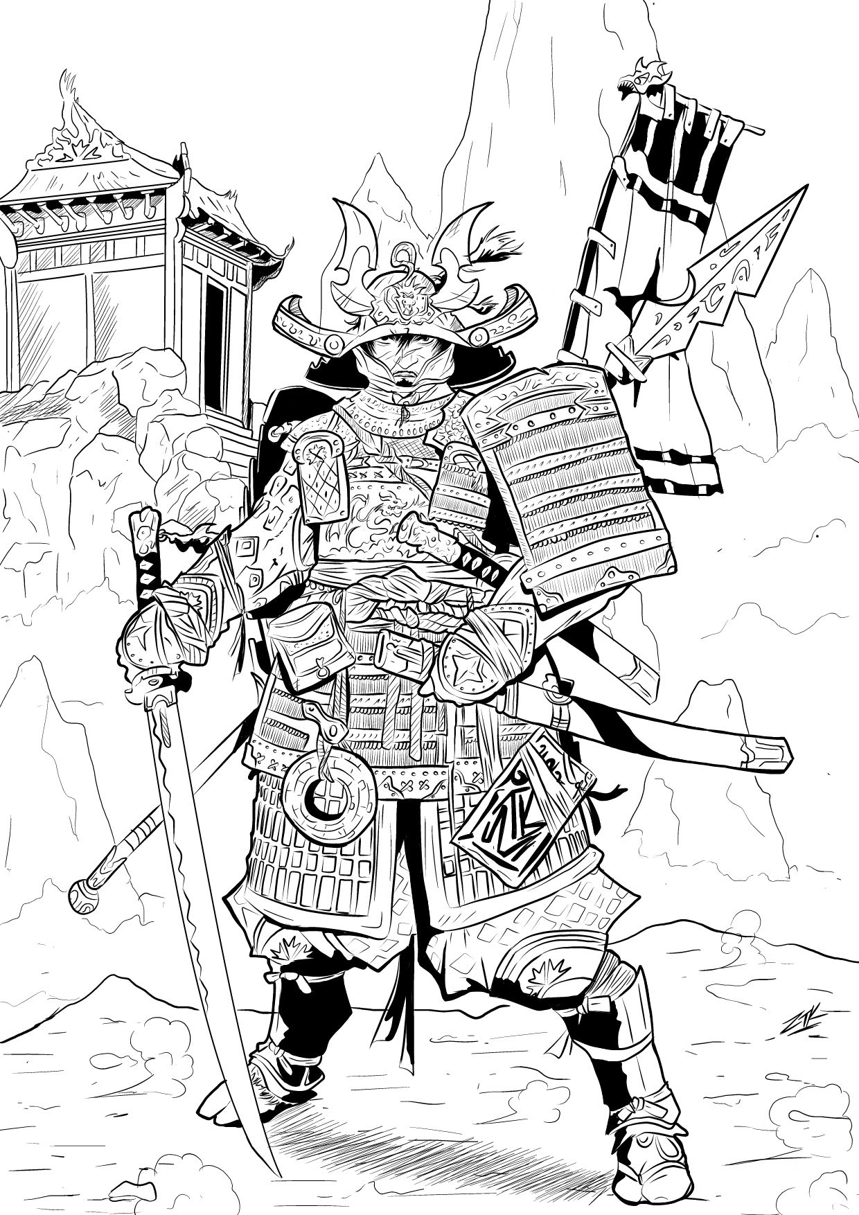 comment dessiner un samourai | Tattoos | Pinterest | Arte manga ...