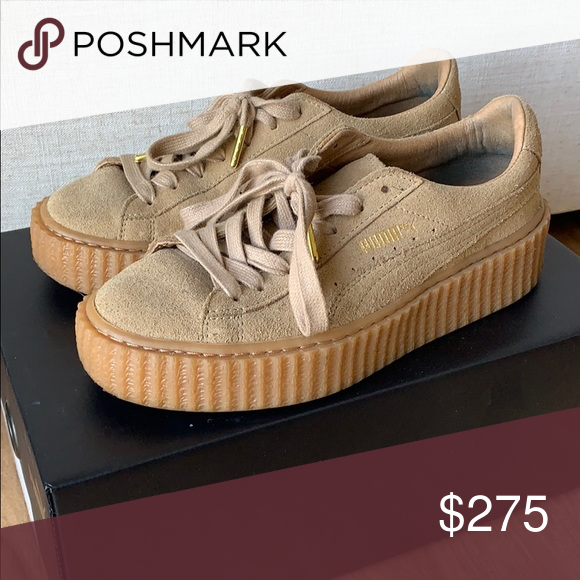 best sneakers 11e24 d68c7 Fenty Rihanna Suede Puma Creepers Oatmeal Tan Excellent used ...