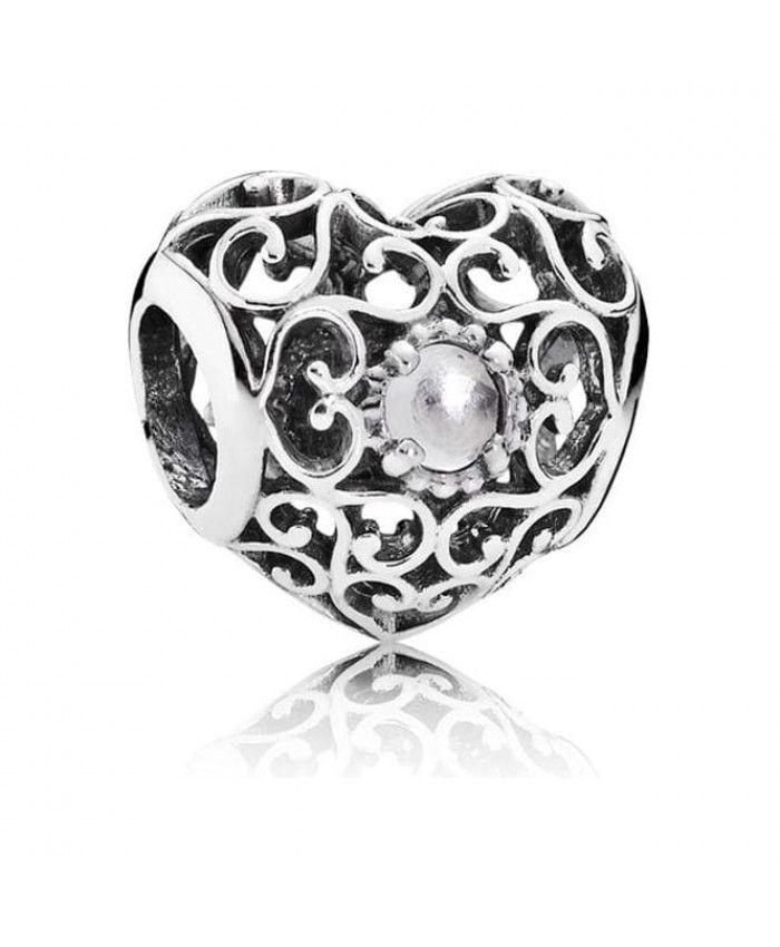 Pandora Uk April Heart Birthstone Charm 791784r Pandora Birthday Charms Pandora Charms Pandora Jewelry