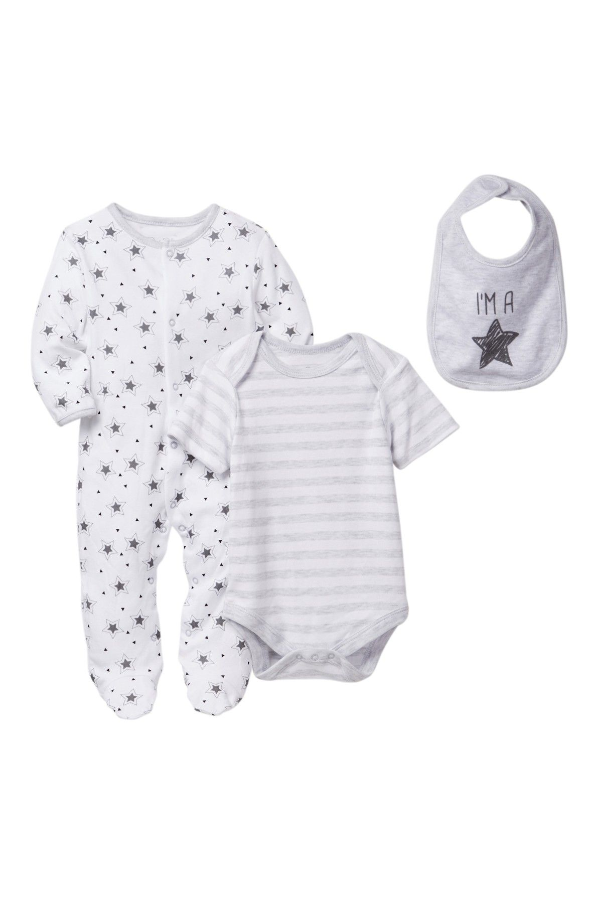 Rene Rofe Superstar Bodysuit Footie & Bib Set Baby Boys is now
