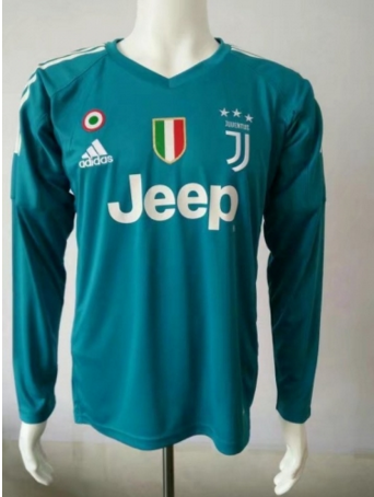 purchase cheap 80237 56f4e Adult Juventus FC Blue Goalkeeper Long Sleeve Soccer Jersey ...