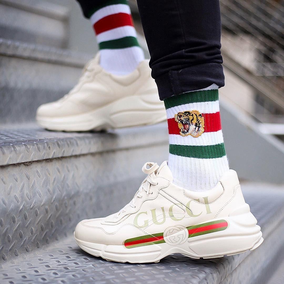 64511548457 Ryhton GUCCI Logo Sneaker Marca De Ropa