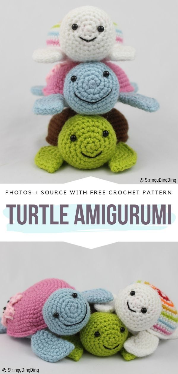 Turtle Amigurumi Ideas Free Crochet Patterns #crochetturtles