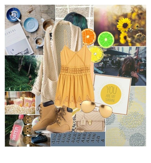 """•my•sunshine•"" by ausawkar ❤ liked on Polyvore featuring Chandra Rugs, Jaipur Rugs, H&M, Yves Saint Laurent and Linda Farrow"