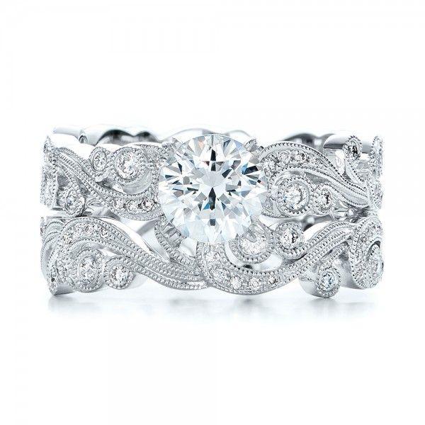 Filigree And Diamond Engagement Ring