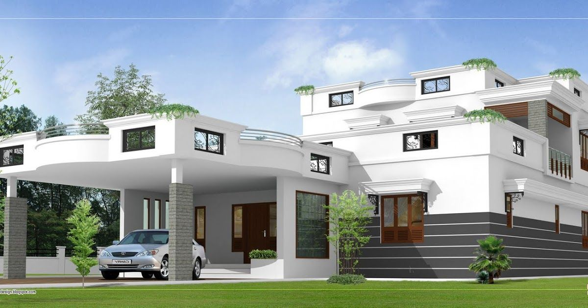 Contemporary Home Design 3360 Sq Ft House Roof Design House Porch Design Modern Roof Design