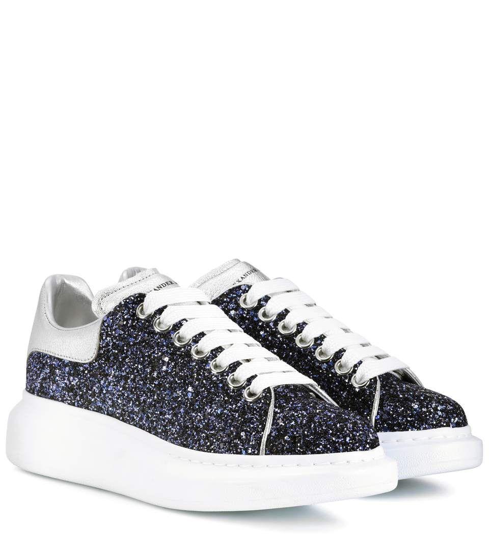 27c1ffac8bace ALEXANDER MCQUEEN Glitter sneakers. #alexandermcqueen #shoes ...