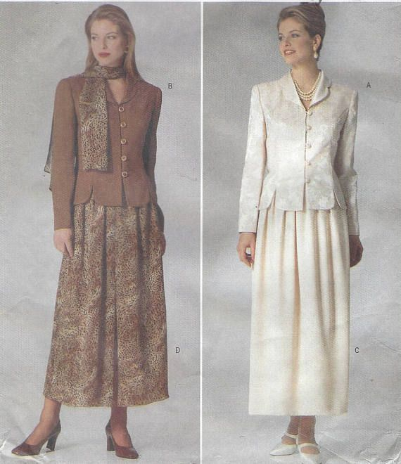 90s Jessica Howard Womens Princess Seam Top, Dirndl Skirt & Scarf ...