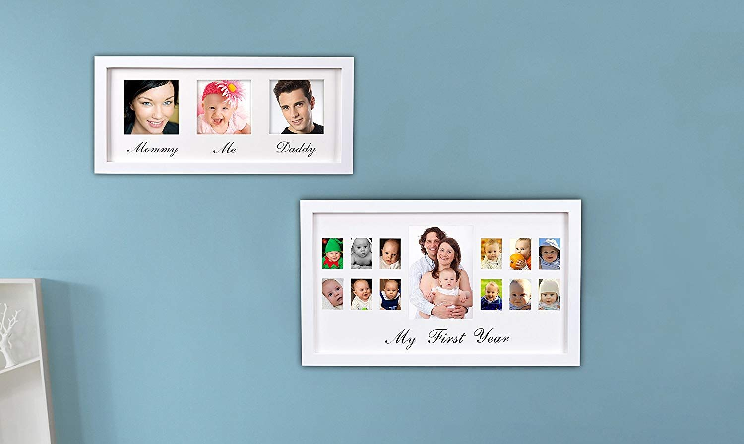 Amazoncom Mommy Daddy Me Frame White Solid Wooden Wall Hanging