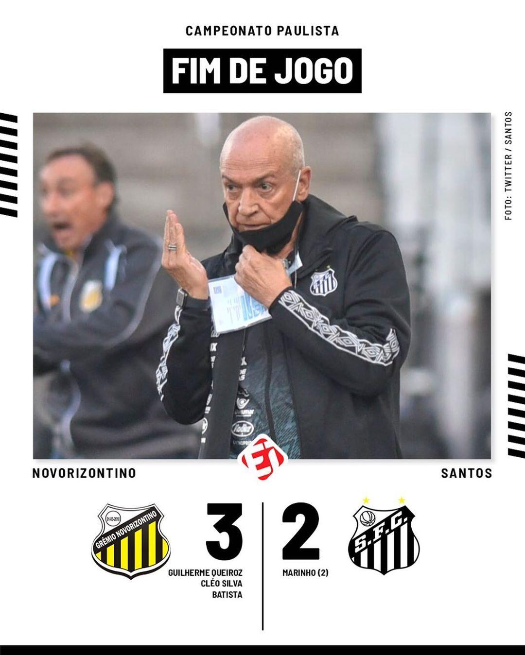 Esporteinterativo Fim De Jogo De Virada O Santos Perde Para O Novorizontino Pelo Paulistao2020