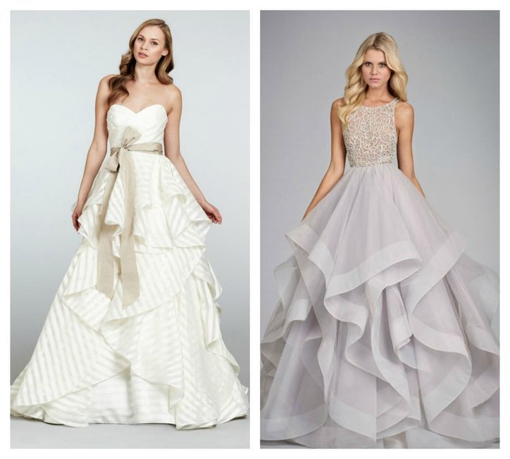 Hayley Paige Ruffled Skirt Wedding Dresses