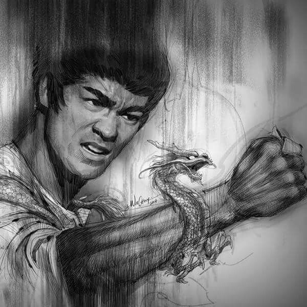 Amazing Drawing Bruce Lee Bruce Lee Art Bruce Lee Bruce Lee Family