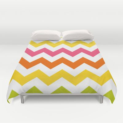 #Summer #Pastel #Chevron #Pattern #Duvet #Cover #Bedding #Bedroom #Decor By #KCavenderDesigns