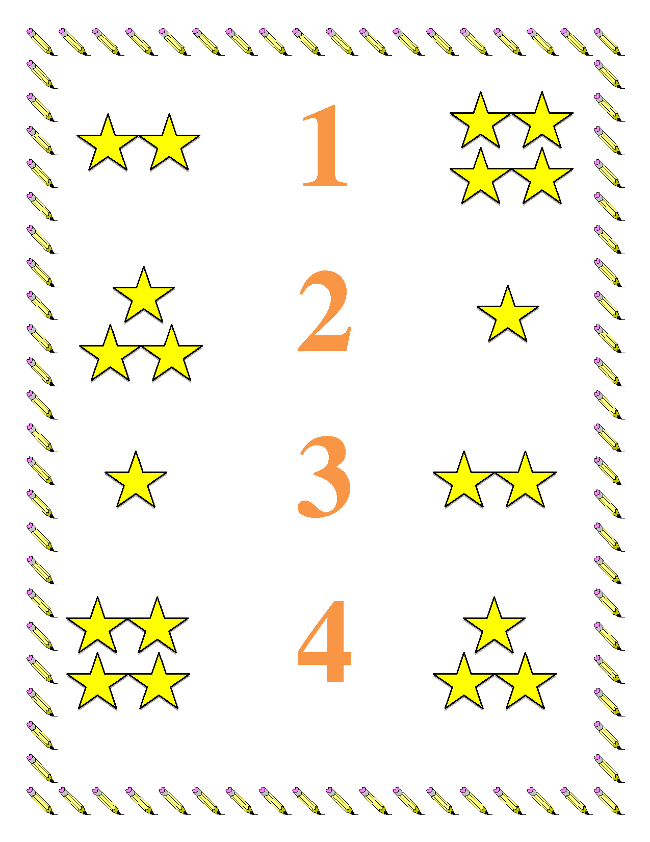 preschool worksheets Preschool Math Worksheet Numbers 14 – Preschool Matching Worksheets