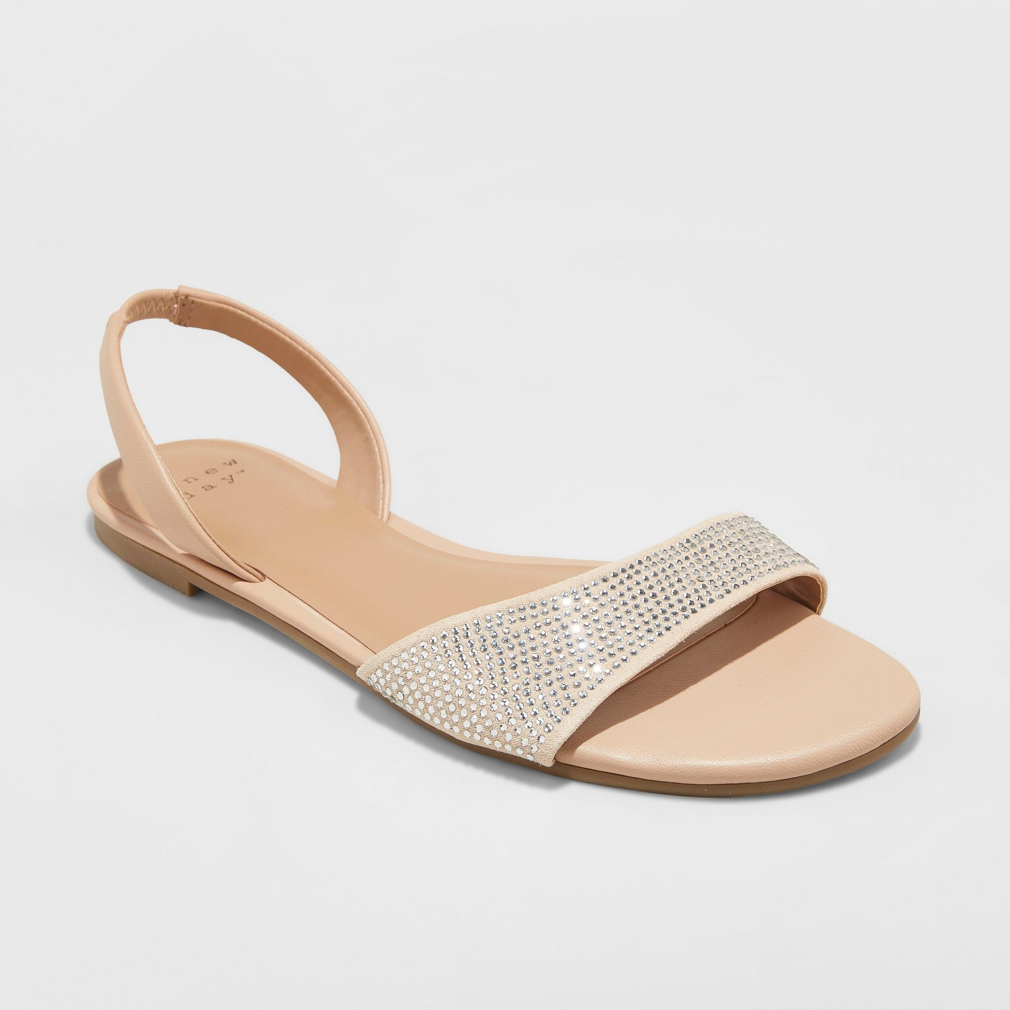2ead2279d Women's Gabriella Embellished Slide Sandals - A New Day Gold 6 in ...