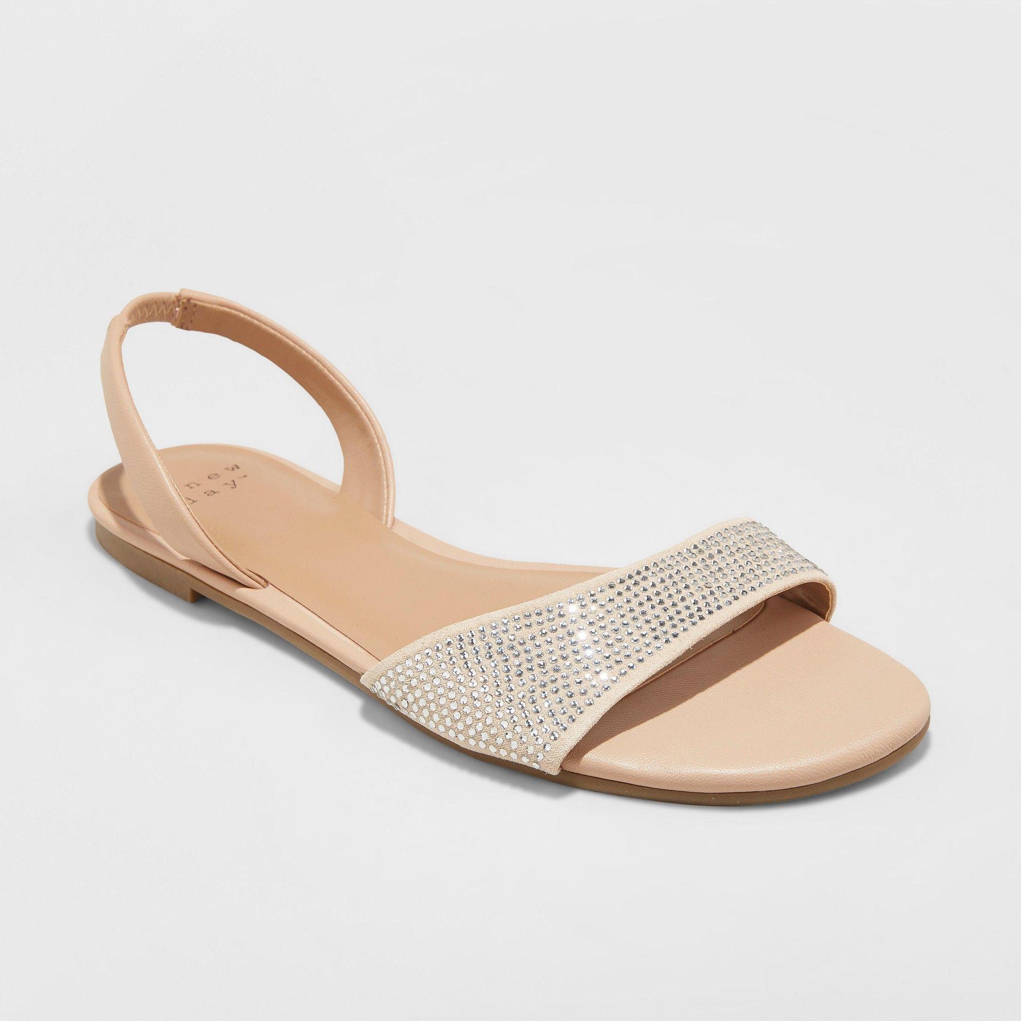 043620d22290 Women s Gabriella Embellished Slide Sandals - A New Day Gold 6 Slingback  Sandal