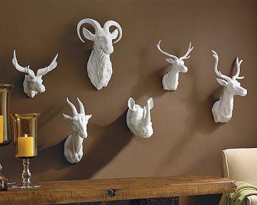 Williams Sonoma Home Ceramic Animal Heads Copycatchic Animal Head Wall Art Faux Animal Head Animal Head Decor