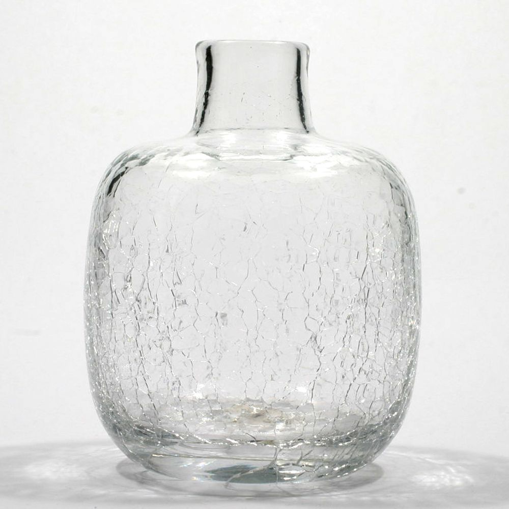 Blenko crystal crackle glass candle vase hand blown art glass blenko crystal crackle glass candle vase hand blown art glass vintage reviewsmspy